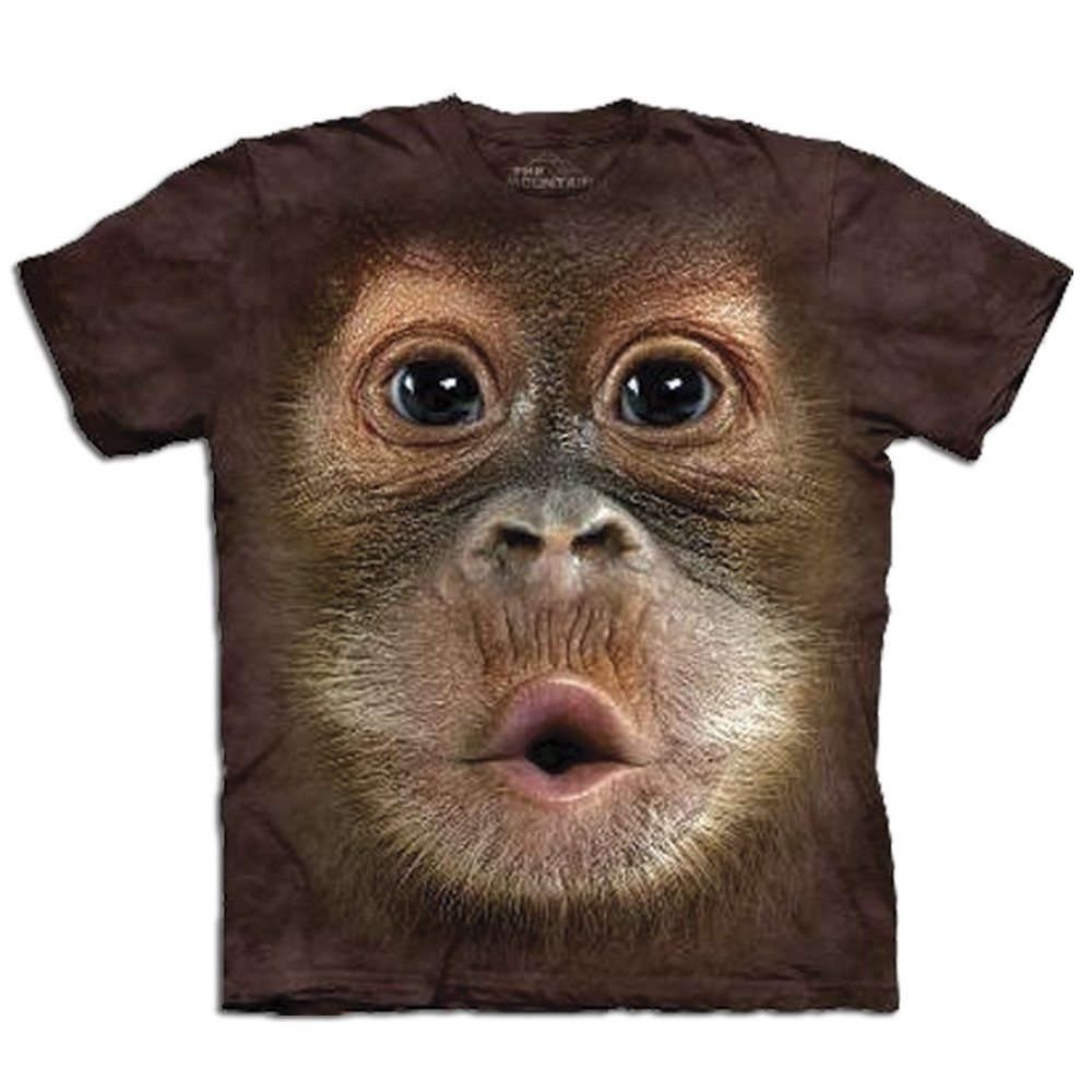 Big Face - Tier T-Shirts - Orangutan Baby