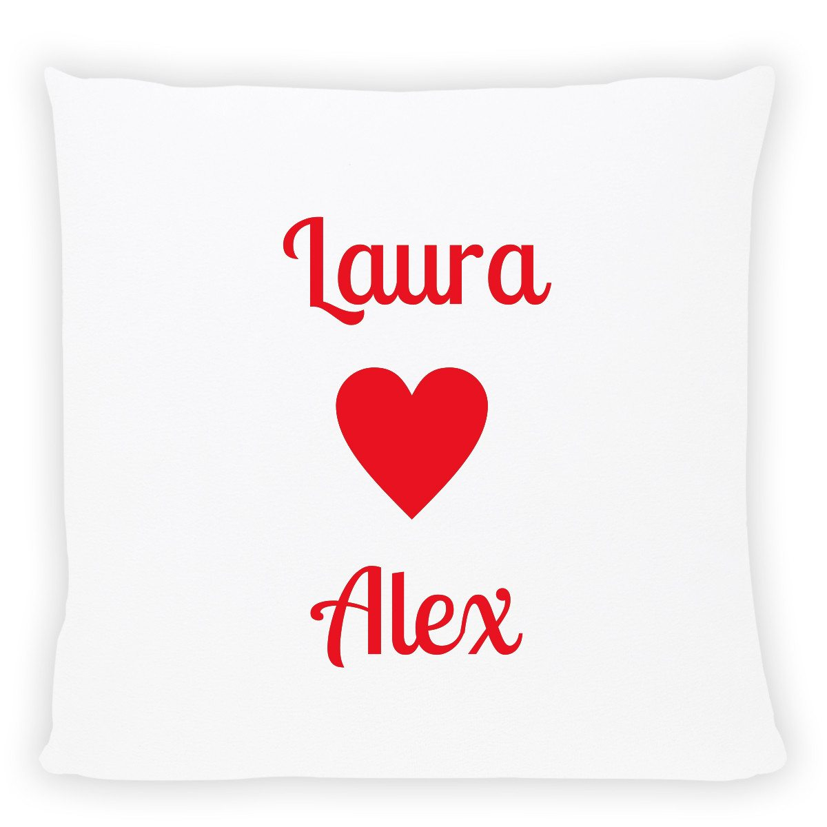 personalized pillow with names red