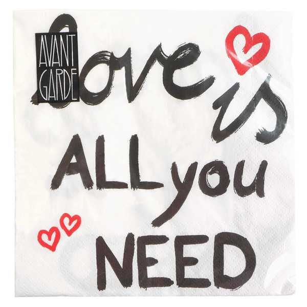 "Serviette ""Love is all you need"""