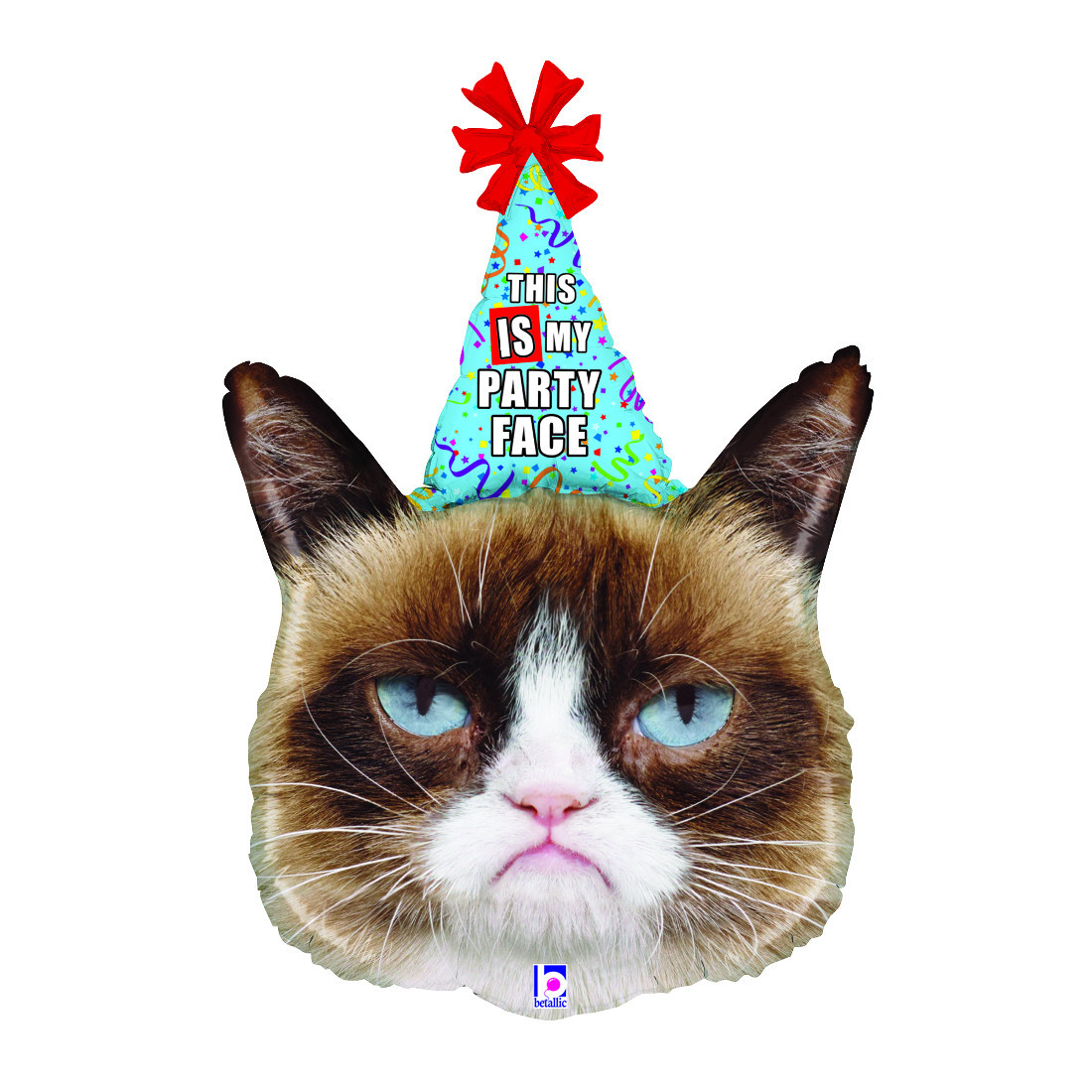 """GRUMPY CAT"" PARTY FACE 91 CM/ 36"""