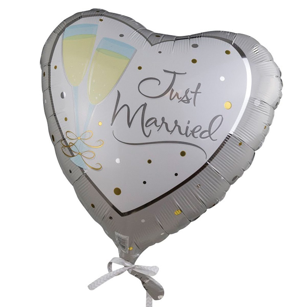 "Helium-Luftballon ""Just Married"" (Sekt)"