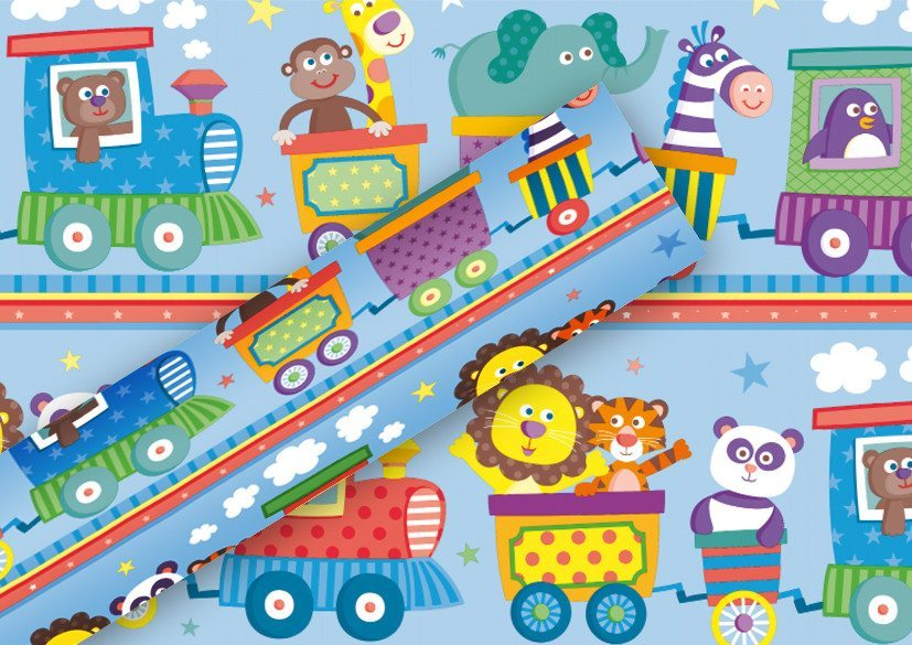 papel de regalo happy train