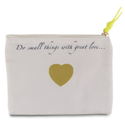 "Kleine Tasche ""Do small things …"" mit Namen"