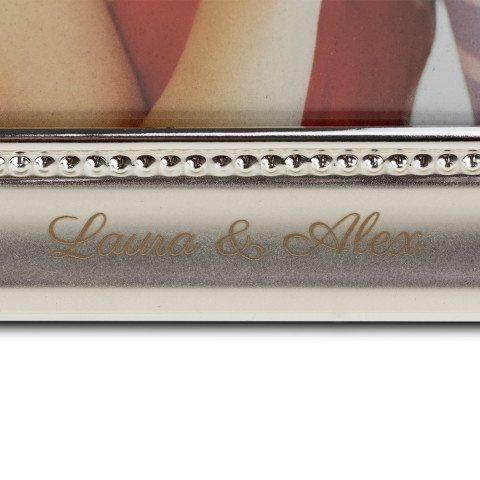 PERSONALIZED SILVER PHOTO FRAME WITH DECORATION