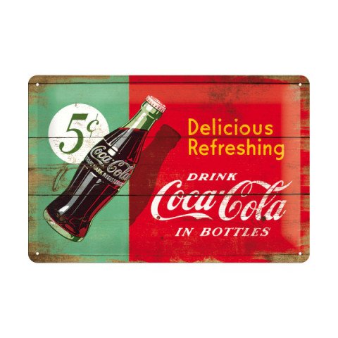 Retro-Blechschild - Coca-Cola